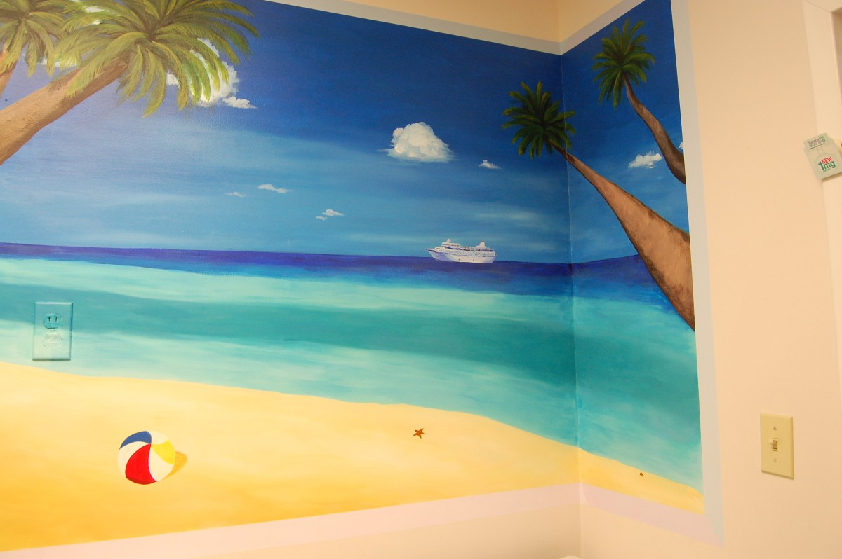 2012, Acrylic on Drywall, 4' x 8.5' (Detail)
